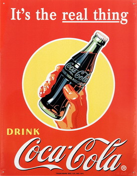 COKE REAL THING Metal Sign