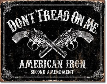 Metal sign DTOM - american iron