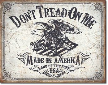 Metal sign DTOM - Land of the Free