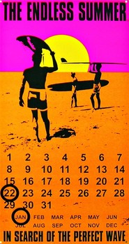 ENDLESS SUMMER CALENDAR Metal Sign