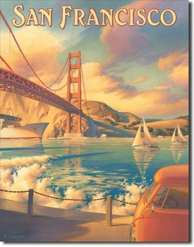 ERICKSON - golden gate Metal Sign