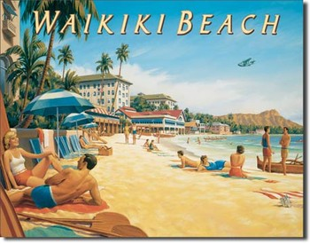 ERICKSON - waikiki beach Metal Sign