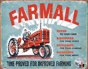Metal sign FARMALL - Model A