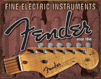 FENDER - Headstock Metal Sign