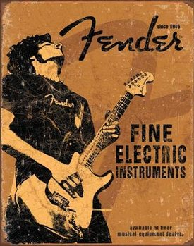 FENDER - Rock On Metal Sign