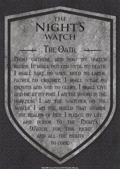 Game Of Thrones - Nights Watch Metal Sign