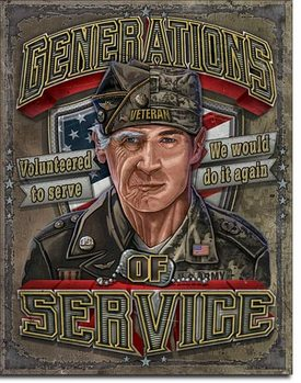 Generations of Service Metal Sign