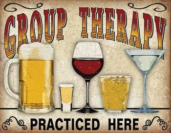 Metal sign Group Therapy