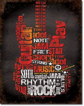 Guitar Inspiration Metal Sign