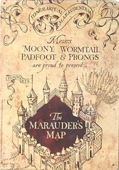 Harry Potter - Marauders Map Metal Sign