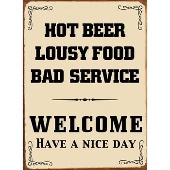 HOT BEER Metal Sign