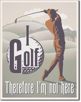 I Golf Metal Sign