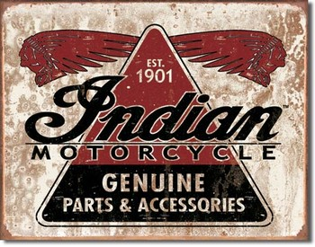 INDIAN - geniune parts Metal Sign