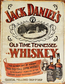 JACK DANIELS - sippin whisky Metal Sign