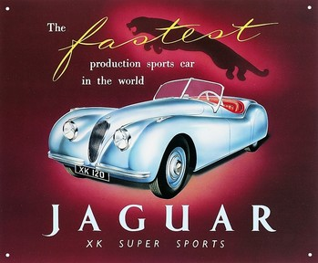 JAGUAR XK120 Metal Sign