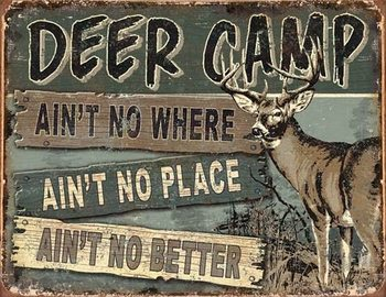 JQ - Deer Camp Metal Sign