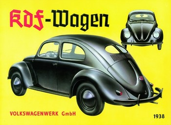 KDF VOLKSWAGENWERK 1938 Metal Sign
