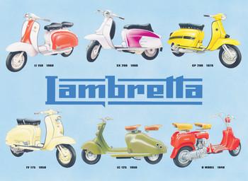Lambretta collage Metal Sign