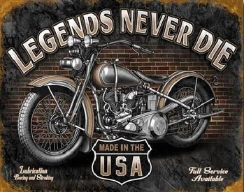 LEGENDS - never die Metal Sign
