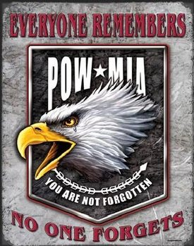 LEGENDS - pow eagle Metal Sign