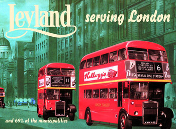 Leyland bus Metal Sign