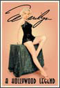 MARILYN HOLLYWOOD LEGEND Metal Sign