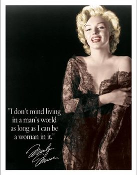 Marilyn - Man's World Metal Sign