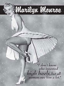 MARILYN MONROE HIGH HEELS Metal Sign