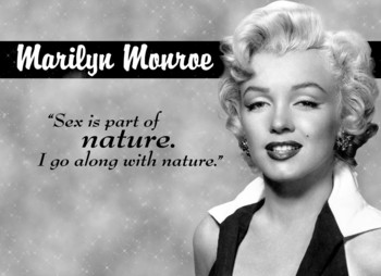 MARILYN MONROE NATURE Metal Sign