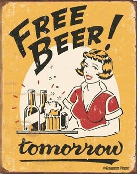 MOORE - free beer Metal Sign