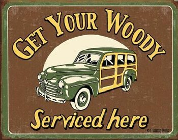 MOORE - WOODY SERVICE Metal Sign