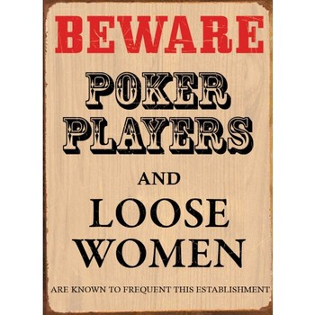 POKER PLAYERS Metal Sign