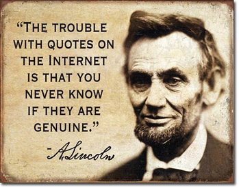 Quotes on the Internet Metal Sign