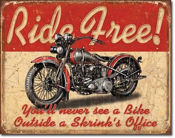 Metal sign RIDE FREE