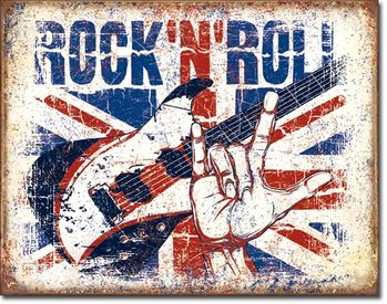 Rock n Roll Metal Sign