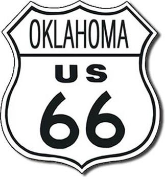 ROUTE 66 - oklahoma Metal Sign