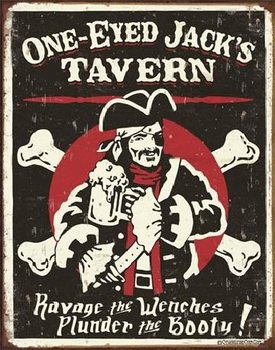 SCHOENBERG - One Eyed Jack's Tavern Metal Sign
