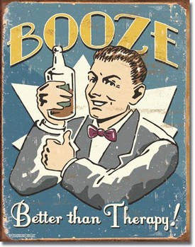 SCHONBERG - booze therapy Metal Sign