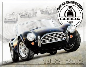 Shelby Cobra 50th Metal Sign