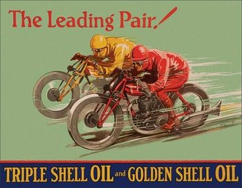 Shell - Winning Pair Metal Sign