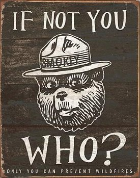 SMOKEY BEAR - If Not You Metal Sign