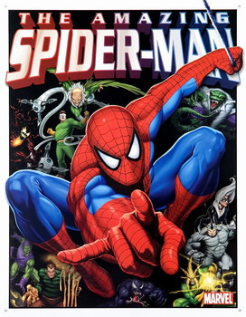 SPIDERMAN AND HIS FOES Metal Sign