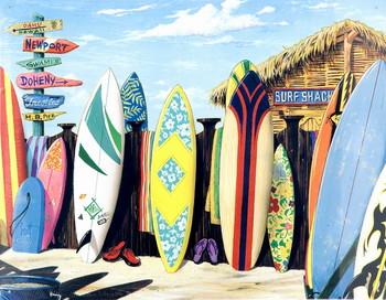 SURF SHACK Metal Sign