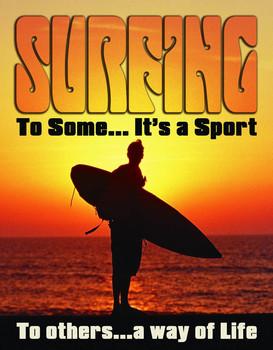 SURF - WAY OF LIFE Metal Sign