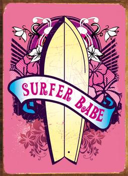SURFER BABE Metal Sign