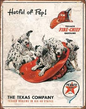 TEXACO - Hatful of Pep Metal Sign