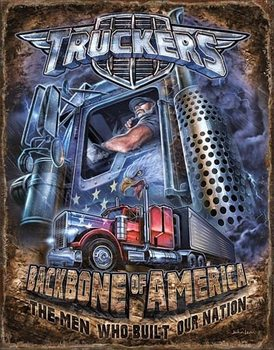 Truckers - Backbone Metal Sign
