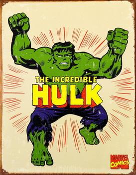 VINTAGE THE HULK Metal Sign