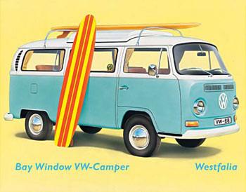 VW BAY WINDOW KOMBI Metal Sign