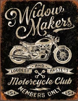 Widow Maker's Cycle Club Metal Sign